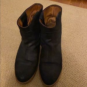 Rag and Bone black leather short booties size 40